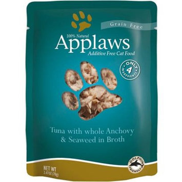 Applaws Tuna with Whole Anchovy & Seaweed in Broth [Options : 2.47 oz]