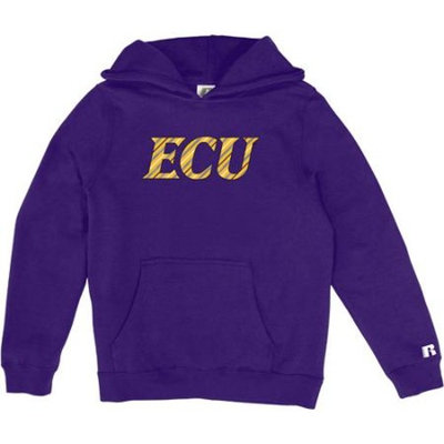 Russell NCAA East Carolina Pirates, Girls Pullover Hood with Pocket