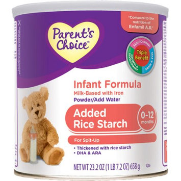 Parent's Choice - Added Rice Starch Infant Formula, 23.2 oz.