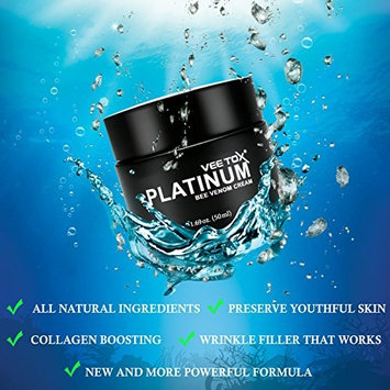 RENOVE VEE TOX PLATINUM- Ultimate Anti-Aging Cream w/Manuka Honey, Bee Venom, Microalgae, Wine Extract, Fills Wrinkles, and Plumps Up Skin for Smooth and...
