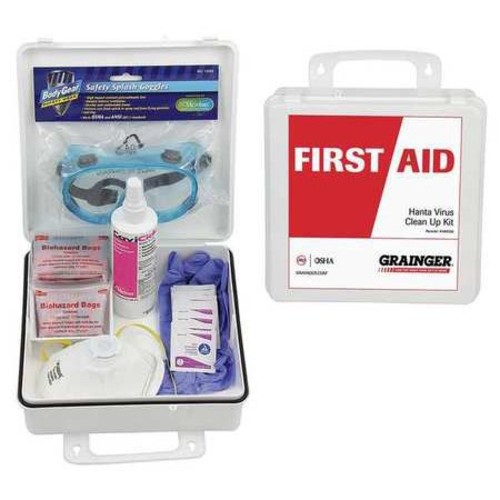 54618 First Aid Kit, HPS Spill Clean Up, 18 pcs.