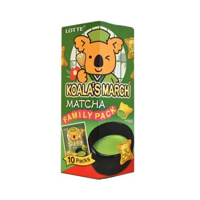 LOTTE Koala's March Mini Cookies with Green Tea Matcha Crème Filling
