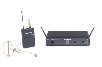 Samson SWC88BCS-D Concert 88 Wireless (D Band) Headset System with SE10 Earset (CB88/CR88)