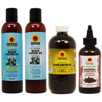 Tropic Isle Living Jamaican Black Castor Oil 8oz/Shamoo/Conditioner/Strong Roots