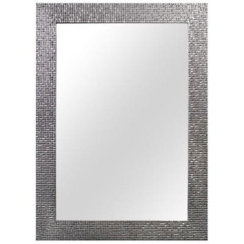 Home Decorators Collection 24 in. W x 35 in. L Framed Fog Free Wall Mirror in Silver