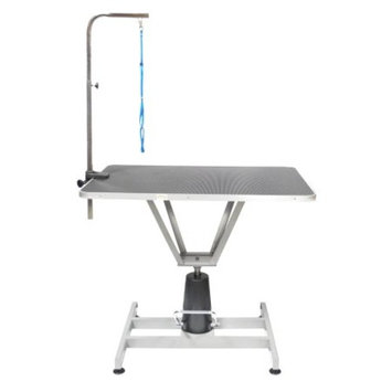 Go Pet Club 36 in. Pet Dog Hydraulic Grooming Table with Arm