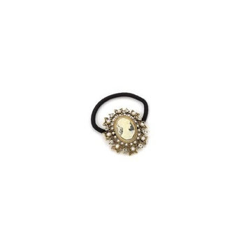 Bejeweled Antique Style Cameo Ponytail Holder