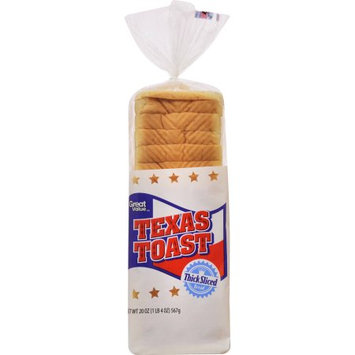 Wal-mart Stores, Inc. Great Value Texas Toast, Thick Sliced Bread, 20 oz