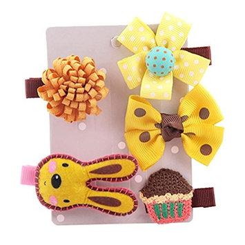 Binmer(TM) 5Pcs Kids Infant Hairpin Baby Girl Cartoon animal motifs Hair Clip Set