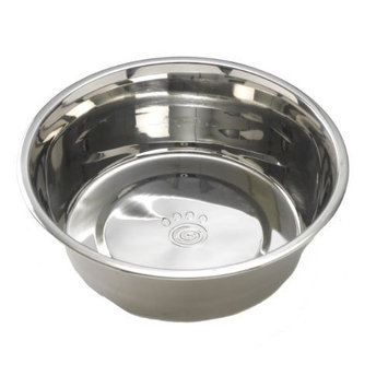 Petrageous Stainless Steel Pet Bowls Barbados Basic Ss Bowl, 5-Count