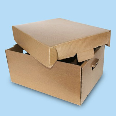 Frontier Packaging 50lb Fish Box Wax Coated