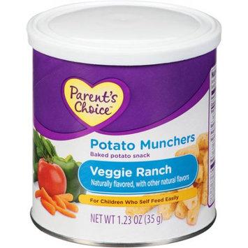 Perrigo Parent's Choice Potato Munchers Veggie Ranch Baked Potato Snack, 1.23 oz