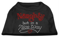 Mirage Pet Products 5250 XLBK Naughty But Nice Rhinestone Shirts Black XL 16
