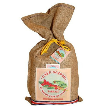Cafe Scipio Whole Bean with Jute Bag, Light Roast, Two 1-Pound Bags