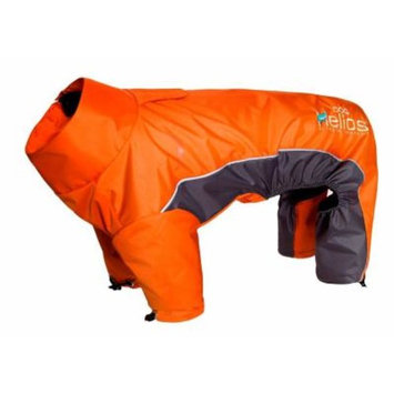Helios Small Orange Blizzard Full-Bodied Adjustable and 3M Reflective Dog Jacket