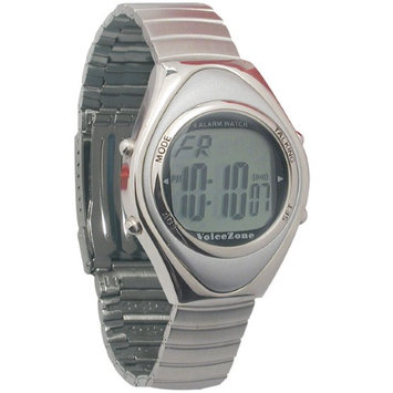 Maxiaids Oval Metal 4-Alarm Talking Watch - Spanish