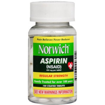 Lee Pharmaceutical Co. NORWICH ASPIRIN TABS Size: 100