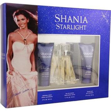 Shania Starlight by Shania Twain for Women. Set-Eau De Toilette Spray 1.7-Ounces & Shimmer Lotion 2-Ounces & Shower Gel 2-Ounces