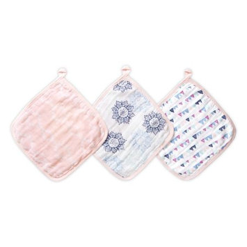 aden by aden + anais washcloths 3 pack, pretty pink