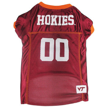 Pets First College Virginia Tech Hokies Collegiate Dog Jersey, Available in Various Sizes