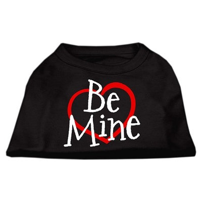Mirage Pet Products 5153 XLBK Be Mine Screen Print Shirt Black XL 16