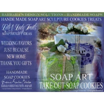 Barbara's Design Solutions Handmade Bath and Body Soap Treats Sculpture Cookie Treats Gift Sets 4 Pack Lavender Fields Gift Box (c) B.D.S. All Rights Reserved.