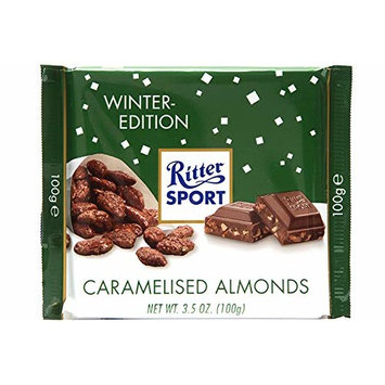 Ritter Sport Winter Edition, 3.5 Ounce (Caramelised Almonds, Pack of 12)