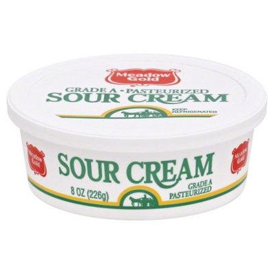 Meadow Gold Sour Cream 8 Oz Plastic