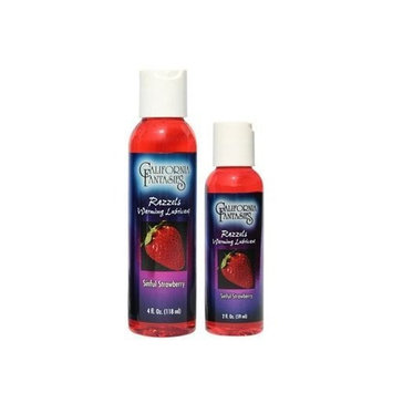 California Fantasies Razzels Flavored Warming Lubricant, 4-Ounce, Strawberry