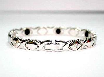 Electrified Feel Better Jewelry ELECTRIFIED FEEL BETTER EJNP-P022 Stainless Steel Bracelet with 6 Zircon Stones