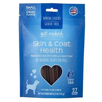 Get Naked Skin & Coat Health Grain Free Dental Chew Sticks, Small 6.2oz
