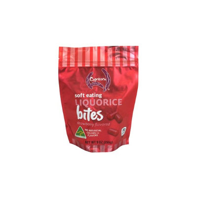 Capricorn Strawberry Soft Eating Licorice Bites, 9 Oz, Pack Of 4 Bags
