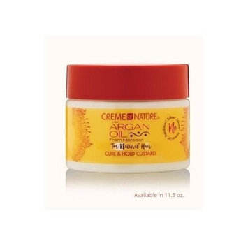 CREME OF NATURE Argan Oil Curl & Hold Custard 11.5 Ounce