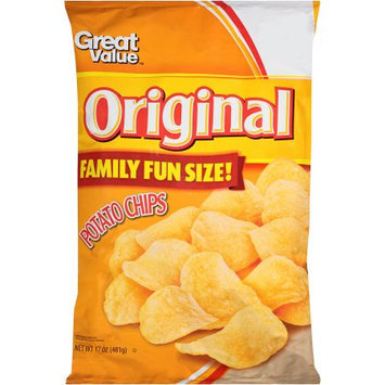 Great Value: Original Potato Chips, 19 Oz