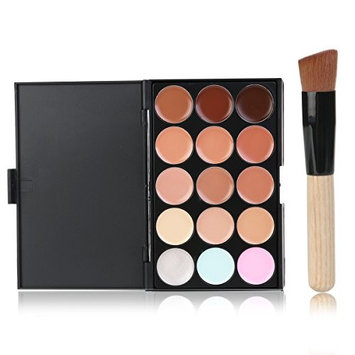 LEORX LEORX Face Contour Kit Highlighter Makeup Kit 15 Colour Cream Concealer Palette with Brush