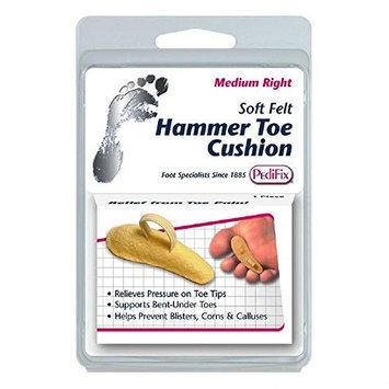 Pedifix P54 Felt Hammer Toe Cushion - Comforts Bent-Under Toes - Small Right