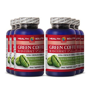 Oat Bran Tablets - GREEN COFFEE BEAN EXTRACT CLEANSE - Liver Supplement 6 Bottles 360 Capsules