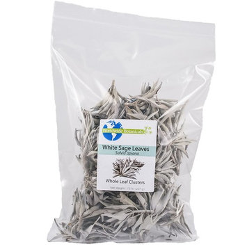 White Sage, California Whole Leaf Clusters, 100% pure, 1/2 lb