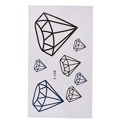 Domybest 10 Sheets Tattoos 3D Diamond Women Mem Body Art Stickers S248