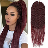 3Packs 18Inch 30Stands/Pack Senegalese Twist Crochet Braids Available for Black Women High Temperature Fiber Synthetic Braiding Hair Extensions