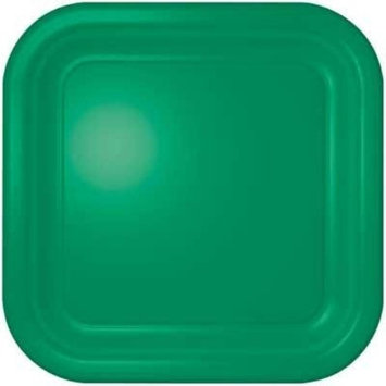 Christmas Green Square Dinner Plate 12 Count