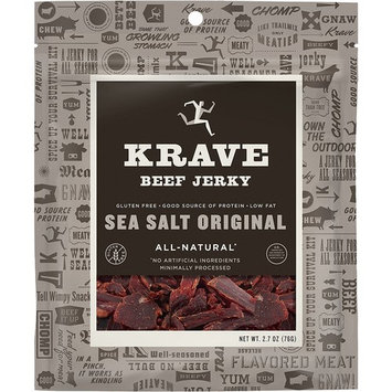KRAVE Jerky Gourmet Beef Cuts, Original Sea Salt, 2.7 Ounce (Pack of 8)