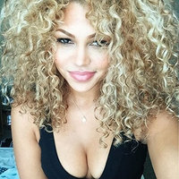 Short Bob Curly Wigs,Nature Curly Wig,Pre Plucked Ombre Golden Wigs for Women 180%Density Glueless Synthetic Wigs With Baby Hair, Cheap Hair None Lace Cosplay Wigs, Curly Wig 16inch