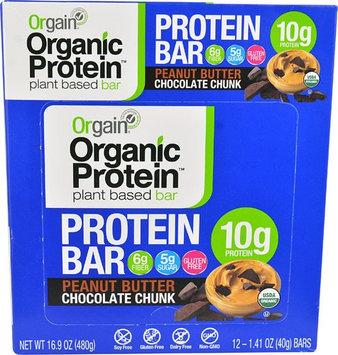 Orgain Organic Protein Bar Peanut Butter Chocolate Chunk - 12 Bars
