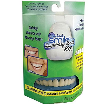 Instant Smile Temporary Tooth Kit w/ 10 Upper Teeth - Smile With Confidence