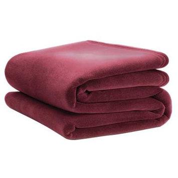 VELLUX 1B05367 Blanket,Full,80x90 In.,Cranberry,PK4