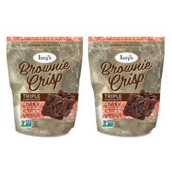 Lucy's Gluten-Free Triple Chocolate 100 Calorie Brownie Crisp - Pack of 2, 4.5 Oz. Ea.