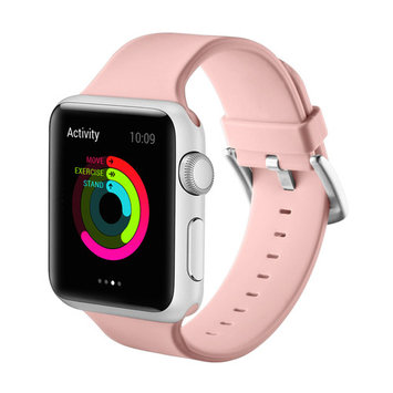 Element Works Wrist Apple watch band 38mm/42mm: Soft and Flexible Silicone Sport Watch Replacement Bands for Apple Watch Series 1 & 2 - Pink