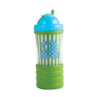 Mud Pie Initial Baby Boy Blue Initial Sip N' Munch, Letter I (Discontinued by Manufacturer)
