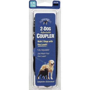 Yuppie Puppy Small to Extra Large 2 Dog Adjustable Coupler, Black